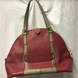 Marc Jacobs Leather Bowling Red Satchel Bag